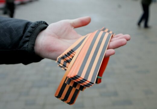 В Литве выяснили, кто распространяет георгиевские ленточки