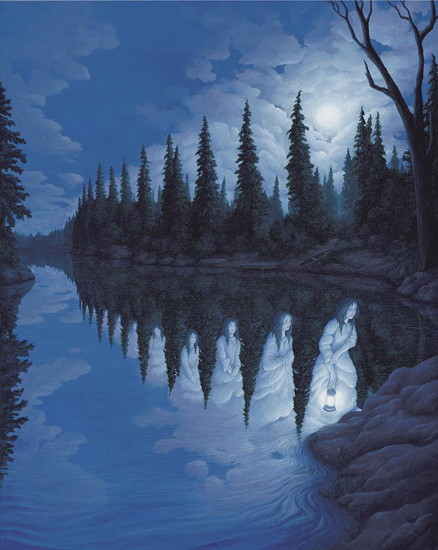 Rob Gonsalves вынесет твой мозг своими картинами - нереальные оптические иллюзии