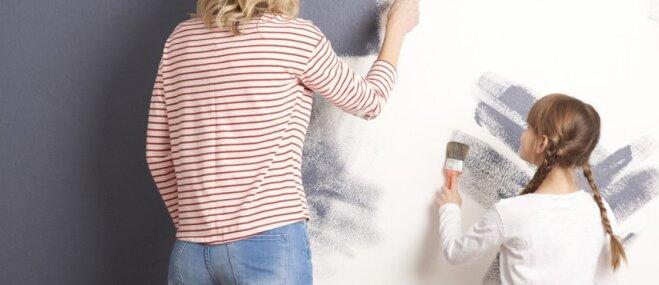 Kā panākt, lai krāsa uz sienas izskatās tāpat kā bundžā