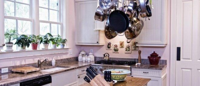 Salas tipa virsma virtuvē – iemesli, kāpēc ir labi, ja tādas nav