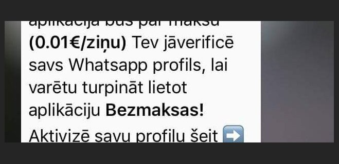 """Латвийцев """"заспамили"""" сообщениями о том, что WhatsApp станет платным. Верить или нет?"""