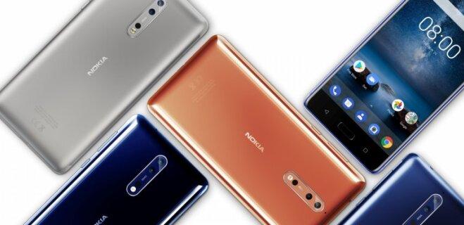 Китайская HMD представила флагманский смартфон Nokia 8 за €600