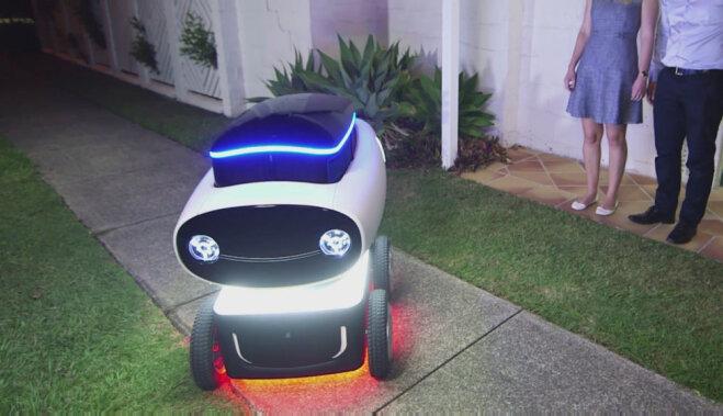 В Австралии сделали первого в мире робота-доставщика пиццы