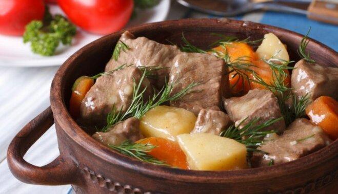 Рагу из говядины в кофейном соусе с овощами