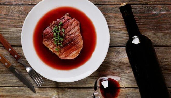 Как сделать мясо с вином