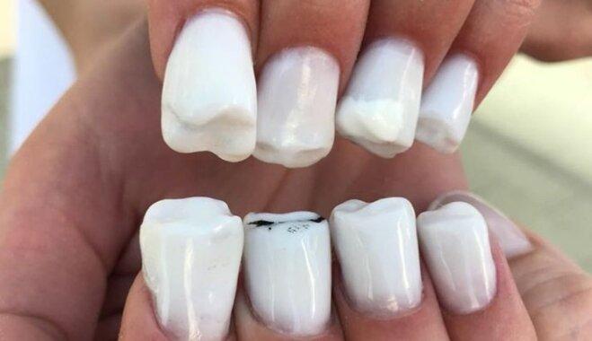 ВИДЕО. Мастера маникюра научились превращать ногти в зубы