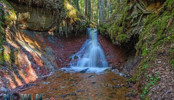 ФОТО. Скрытая жемчужина латвийской природы: Зартапский водопад