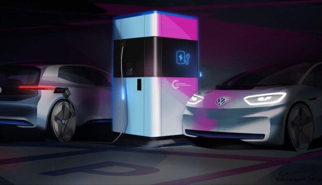 Volkswagen создал мобильную зарядную станцию для электромобилей