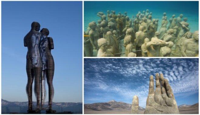 Maina formu un atrodas zem ūdens: iespaidīgas skulptūras, kas pārsteidz ar oriģinalitāti