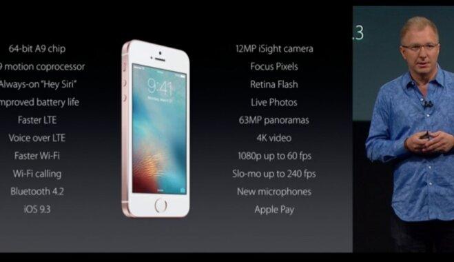 Apple представила 4-дюймовый iPhone SE — самый дешевый смартфон в своей истории