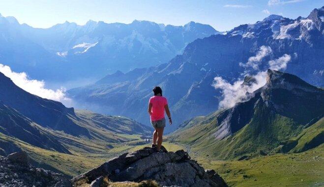 Pastkartes cienīgi skati un izaicinājumi: budžeta nedēļas nogale Šveices Alpos