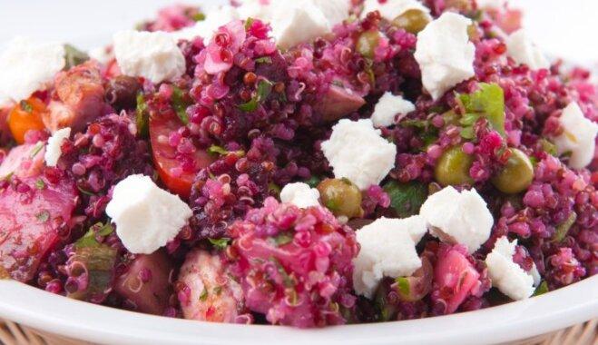 Kvinojas salāti ar bietēm un fetu