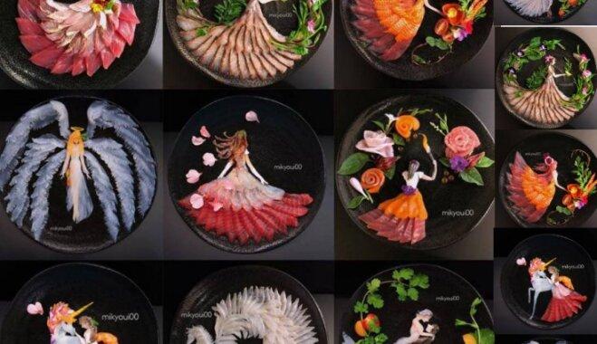 ФОТО: Японский повар творит шедервы из морепродуктов