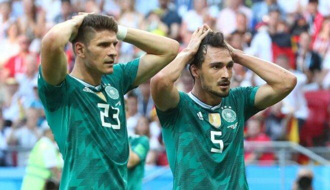 Vācijas izlase sensacionāli neiekļūst Pasaules kausa astotdaļfinālā