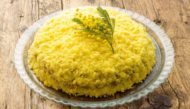 Mimozas kūka – 8. marta tradicionālais kārums Itālijā