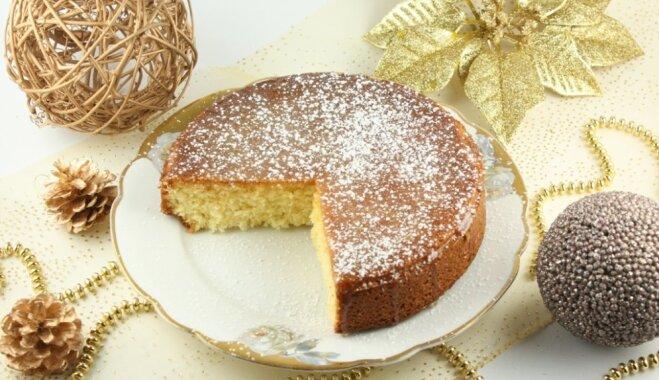 Пирог из манной крупы с апельсиновым сиропом