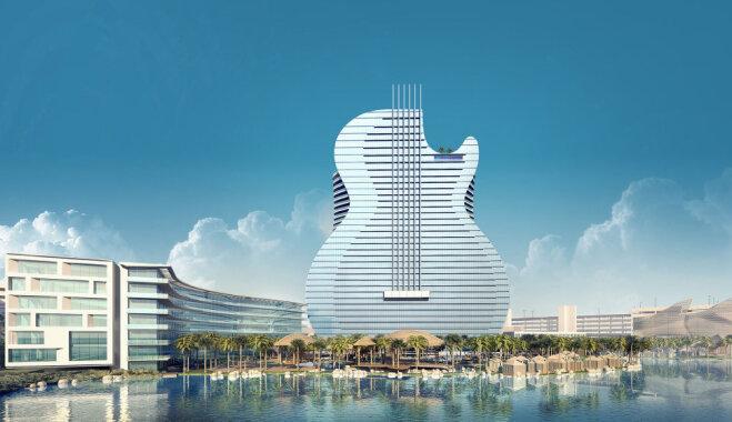 ФОТО. Рок-н-ролл жив! Во Флориде построят 137-метровый отель в виде гитары
