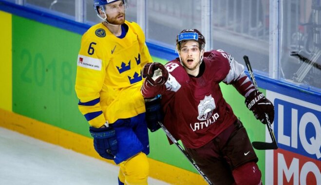 Швеция победила Латвию ивполуфинале ЧМ-2018 сыграет сСША