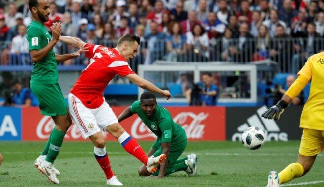 Krievijas izlases spēlētājs Čeriševs: par šādu atklāšanas spēli nebiju pat sapņojis