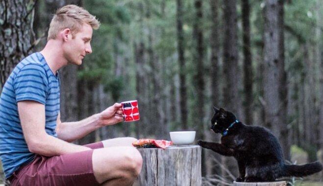 Dzīve uz riteņiem: saimnieka un uzticamās kaķenes piedzīvojumi, ceļojot ar busiņu
