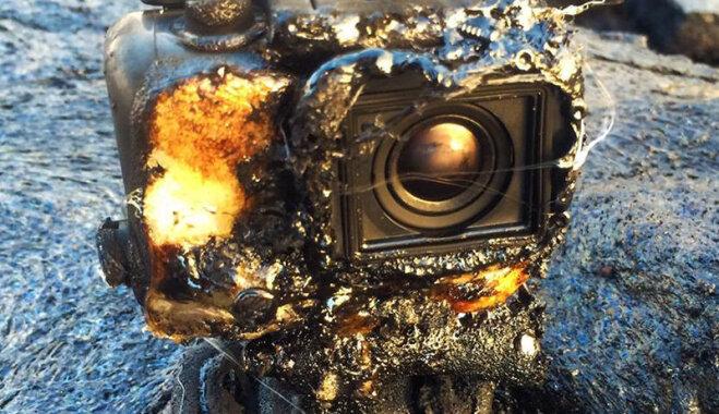 """Камера GoPro уцелела после """"купания"""" в лаве и сняла захватывающее ВИДЕО"""