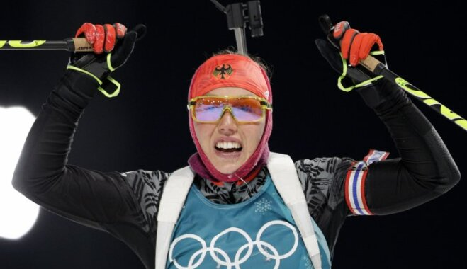 Биатлон: Лаура Дальмайер выиграла спринт вПхенчхане