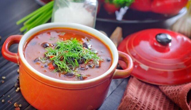 Быстрый суп харчо с помидорами