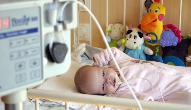 Lūdz palīdzību sagādāt īpašu medicīnisko aprīkojumu piecus mēnešus vecajai Adelīnai