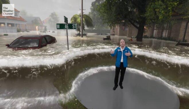 ВИДЕО: Американцев предупреждают об урагане с помощью крутой технологии дополненной реальности