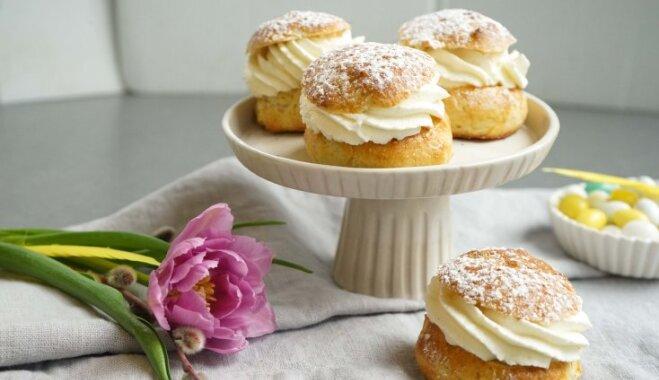 Семлур – шведские булочки с марципаном
