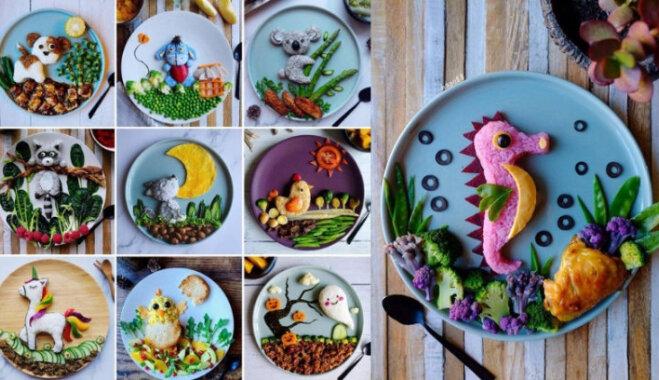 ФОТО: Креативная мама делает для сына сказочные картины из еды