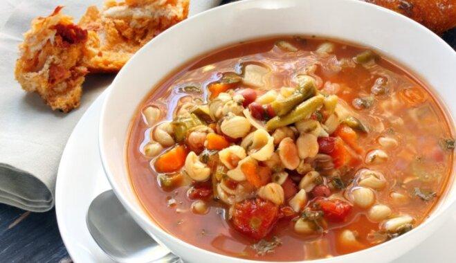 Makaronu-pupiņu zupa