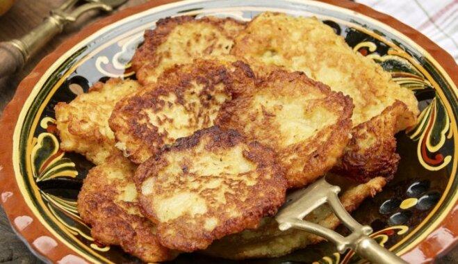 Kartupeļu pankūkas ar auzu pārslām