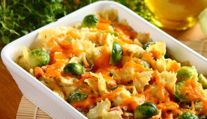 Knorr Fix receptes: Briseles kāposti ar nūdelēm