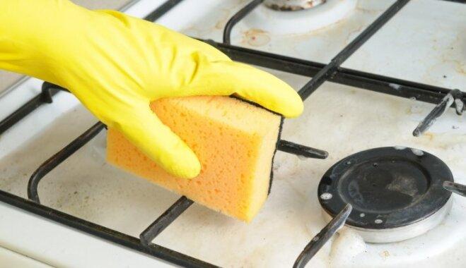 Tautas metodes, kā nomazgāt plīts virsmas režģus no taukainajiem nosēdumiem