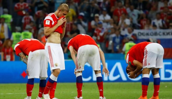 Сборная России по пенальти уступила Хорватии в последнем четвертьфинале ЧМ-2018