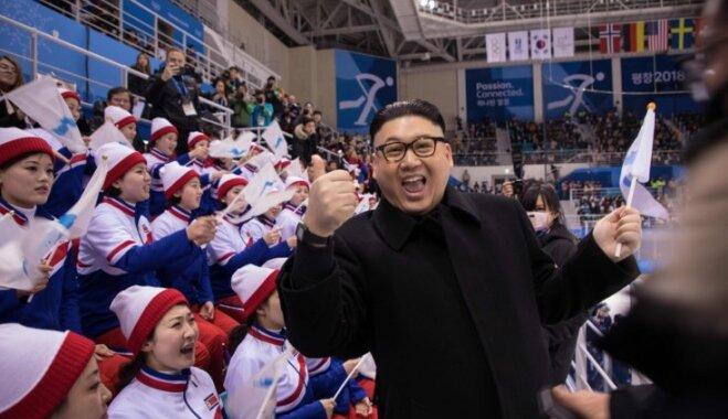 Двойник Ким Чен Ына пришел на Олимпиаду и удивил болельщиц и охранников