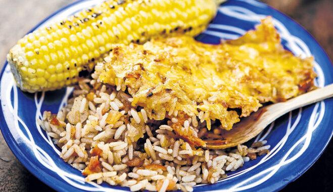 Cepti vārītie rīsi ar sieru