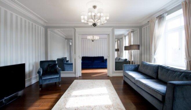 Virtuāla viesošanās greznības cienītā dzīvoklī Tērbatas ielā