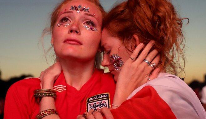 ФОТО, ВИДЕО. Шок, грусть и слезы: Англичане переживают болезненное поражение от хорватов