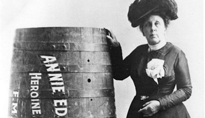 Vēstures noslēpumi: Pirmais cilvēks pasaulē, kas pievārējis Niagāras ūdenskritumu mucā – Annija Teilore