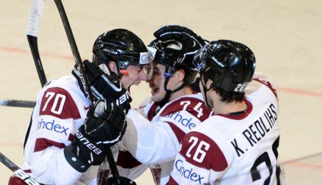 Latvija pēc 14 gadu pārtraukuma PČ spēlē uzvar Vāciju