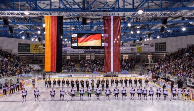 Битва заплей-офф: Латвия вотчаянной борьбе уступила Германии побуллитам