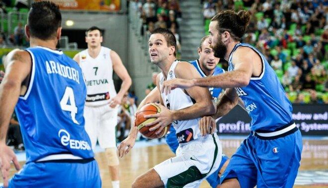 Lietuvas basketbolisti iesoļo 'Eurobasket 2013' pusfinālā