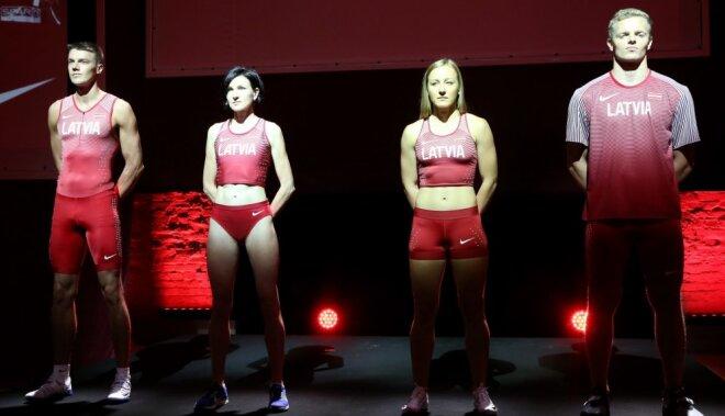 Foto: Latvijas vieglatlēti turpmāk startēs unikālos 'Nike' tērpos