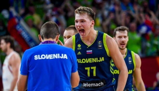 Video: Latvijas pāridarītāja Slovēnija nepažēlo čempionus spāņus