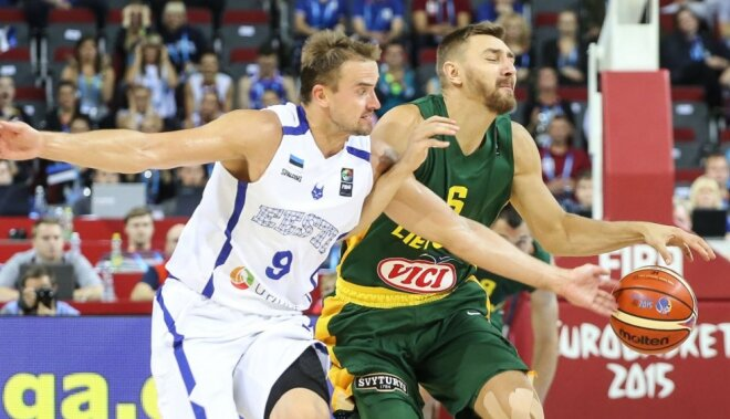 Опытные литовцы вытащили матч с эстонцами (ФОТО, ВИДЕО)