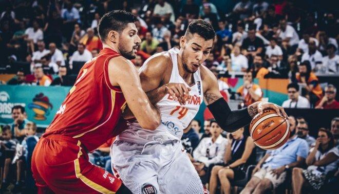 Spānijas basketbolisti graujoši sāk Eiropas čempionu titula aizstāvēšanu