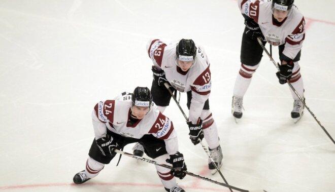 Latvijas hokeja izlase pasaules čempionāta spēlē tiekas ar Norvēģiju
