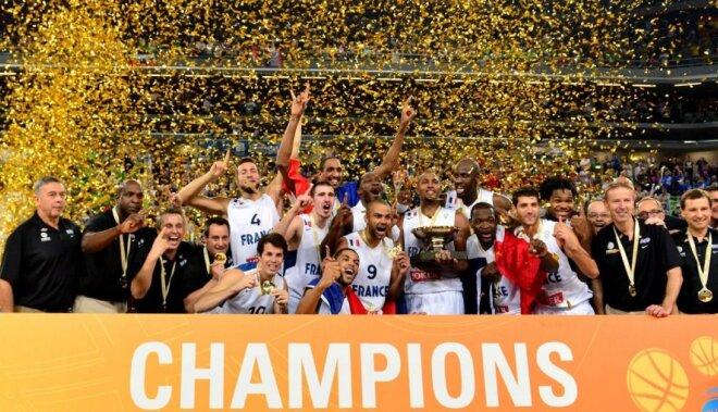 Francija pārliecinoši apspēlē Lietuvu un pirmo reizi triumfē Eiropas čempionātā